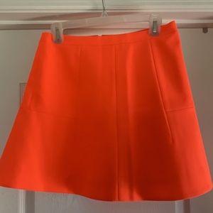J Crew bright Orange skirt. NWOT. Size 4.